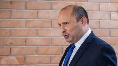 Yemina party leader Naftali Bennett arrives to speaks to the Israeli Parliament in Jerusalem. (Photo / AP)