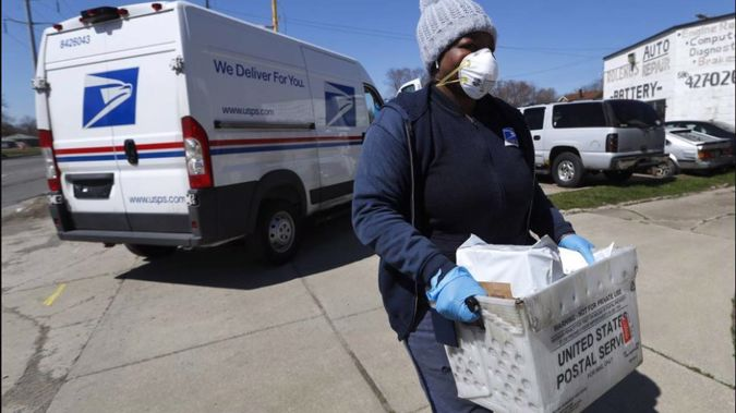 USPS said on its website that it was temporarily suspending international mail acceptance for a number of destinations. Photo / AP