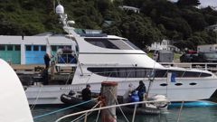 A catamaran restrained in Wellington. (Photo / Supplied)