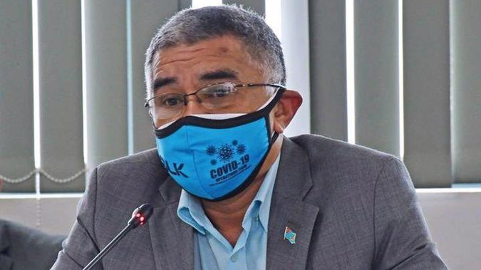 Permanent Secretary for Health James Fong blames a lack of public compliance as the reason Fiji is struggling to get on top of the Covid outbreak. (Photo / Fijian Government via Facebook)