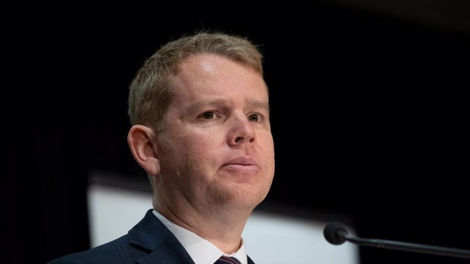 Covid-19 Response Minister Chris Hipkins yesterday revealed information about the positive case. (Photo / Mark Mitchell)