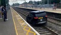Criminal drives along train tracks to avoid UK police