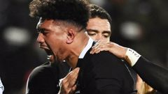 Ardie Savea celebrated his 50th test with a try against Fiji. Photo / Photosport