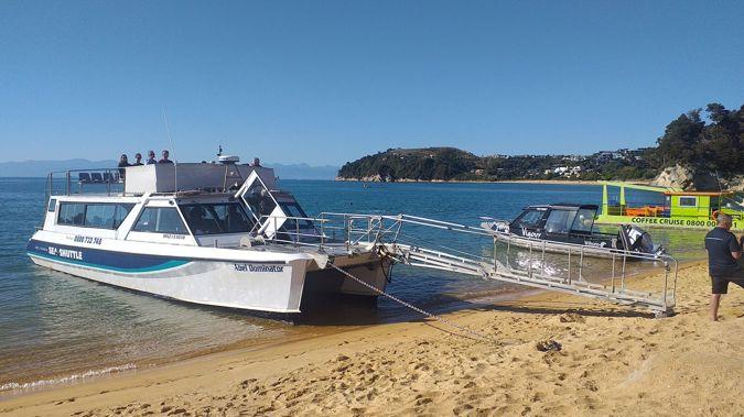 Abel Tasman Sea Shuttles at Kaiteriteri. (Photo / Mike Yardley)