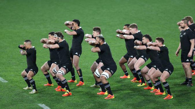 The All Blacks perform the haka ahead of the first test against Fiji. (Photo / Photosport)