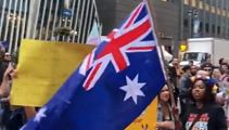 'Save Australia' protest erupts in New York